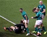Guinness Series, Aviva Stadium, Dublin 17/11/2018Ireland vs New Zealand All BlacksNew Zealand's Beauden Barrett and Rob Kearney of IrelandMandatory Credit ©INPHO/Bryan Keane