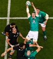 Guinness Series, Aviva Stadium, Dublin 17/11/2018Ireland vs New Zealand All BlacksIreland's Peter O'Mahony claims a line outMandatory Credit ©INPHO/Tommy Dickson