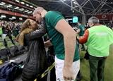 Guinness Series, Aviva Stadium, Dublin 17/11/2018Ireland vs New Zealand All BlacksIreland's Devin Toner celebrates winning with his wife MaryMandatory Credit ©INPHO/Dan Sheridan