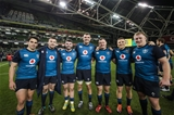Guinness Series, Aviva Stadium, Dublin 24/11/2018Ireland vs USAIrelands Munster players Joey Carbery, Niall Scannell, Sam Arnold, Tadhg Beirne, Dave Kilcoyne, Andrew Conway and John Ryan after the matchMandatory Credit ©INPHO/Billy Stickland