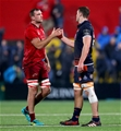 Guinness PRO14, Irish Independent Park, Cork 30/11/2018 Munster vs EdinburghMunster's Tadhg Beirne shakes hands with Callum Hunter-Hill of Edinburgh after the gameMandatory Credit ©INPHO/Oisin Keniry