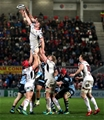 Guinness PRO14, Kingspan Stadium, Belfast 1/12/2018 Ulster vs Cardiff BluesCardiff Blues' Josh Turnbull and Jordi Murphy of Ulster contest a line out Mandatory Credit ©INPHO/Bryan Keane