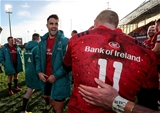 Heineken Champions Cup Round 3. Thomond Park, Limerick 9/12/2018Munster vs CastresMunsters Keith Earls and Conor Murray celebrate after the gameMandatory Credit ©INPHO/Dan Sheridan