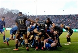 Heineken Champions Cup Round 3. Recreation Ground, Bath, England 8/12/2018Bath vs LeinsterLeinster's Sean Cronin scores a try from the back of a maul Mandatory Credit ©INPHO/Ryan Byrne